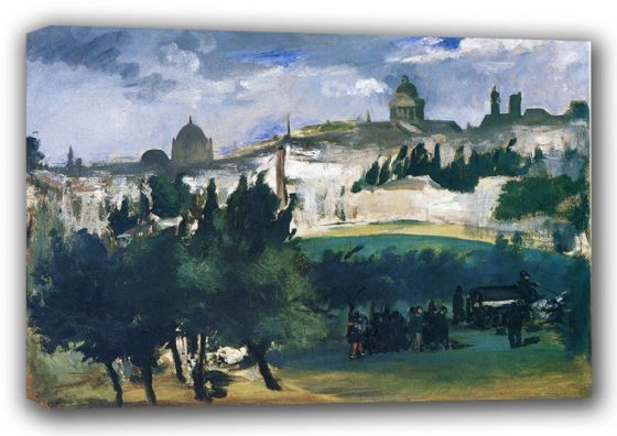 Manet, Edouard: The Funeral (The Burial). Fine Art Canvas. Sizes: A3/A2/A1 (00686)